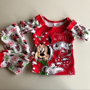 Disney Christmas Minnie PJ's